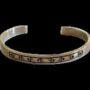 Navajo Silver 14K Gold Bracelet Dan Skeets