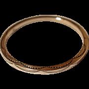Navajo Silver Bangle Bracelet Tahe