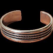 Vintage Navajo Silver Bracelet Tom Hawk Cuff