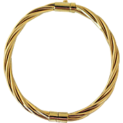 Vintage 14K Gold Bangle Bracelet Hinged Petite