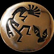 Vintage Hopi Pin Pendant Silver Kokopelli