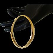 Undecorated 14K Gold Bangle Bracelet Hinged
