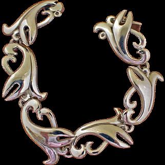 Vintage Jose Luis Flores Bracelet Taxco Silver