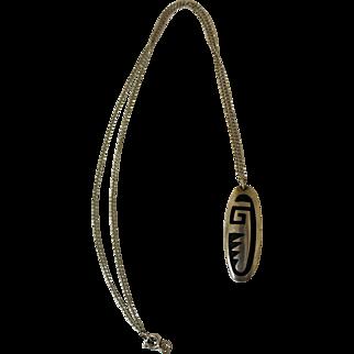 Vintage Hopi Pendant Necklace Larry Pooyouma
