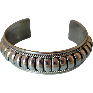 Vintage Navajo Silver Bracelet Priscilla Apacheto
