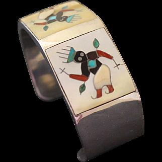 Tony Ohmsatte Zuni Bracelet Inlaid Cuff