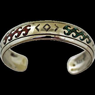 Vintage Navajo Bracelet Inlaid Nakai