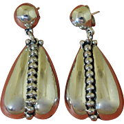 Vintage Pat Areias Silver Earrings Taxco Style