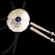 Vintage Navajo Silver Bolo Tie