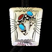 Vintage Navajo Silver Bolo Tie Wilbert Meyers