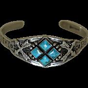 Vintage Maisel's Silver Bracelet Turquoise