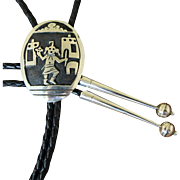 Vintage Silver Bolo Tie Hopi Kachina Figure