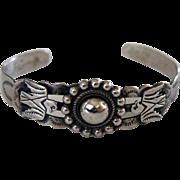 Vintage Mid 20th Century Silver Southwestern Bracelet