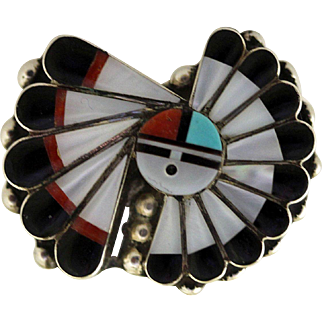 Vintage Zuni Inlaid Ring Gchachu