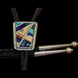 Vintage Inlaid Zuni Bolo Tie