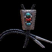 Vintage Navajo Silver Bolo Tie 1950s 1960s