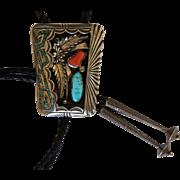 Vintage Navajo Bolo Tie David K Lister