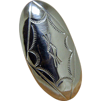 Vintage Navajo Silver Domed Ring