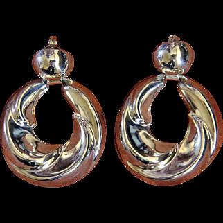 Vintage Taxco Silver Earrings Los Ballesteros Modernist
