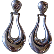 Vintage Taxco Silver Earrings Los Ballesteros