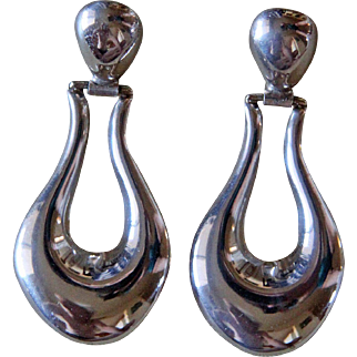 Vintage Taxco Silver Earrings Los Ballesteros
