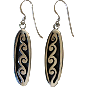 Hopi Silver Earrings Duane Koinva Dangles