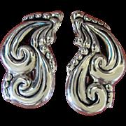 Vintage Taxco Silver Earrings Bernice Goodspeed Clip Backs