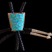 Navajo Silver Bolo Tie Turquoise Emma Bonney