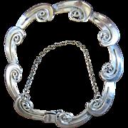 Vintage Taxco Silver Link Bracelet R Cazares