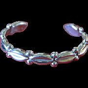 Vintage Silver Mexican Bracelet Cuff