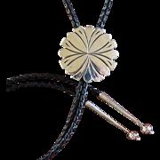 Navajo Silver Bolo Tie Steve Yellowhorse