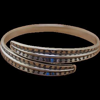 David Andersen Silver Bracelet Bypass Bangle