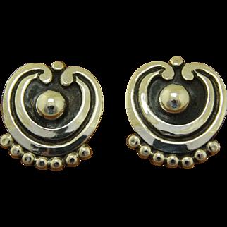 Vintage Pat Areias Silver Earrings Taxco
