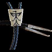 Navajo Silver Bolo Tie Willie Yazzie