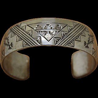 Vintage Navajo Silver Bracelet Elgin Hoskey