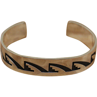 Hopi Silver Bracelet Darren Seweyestewa