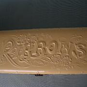 """Ribbons"" Celluloid Dresser Box scarce subject, rich cream, fine details"