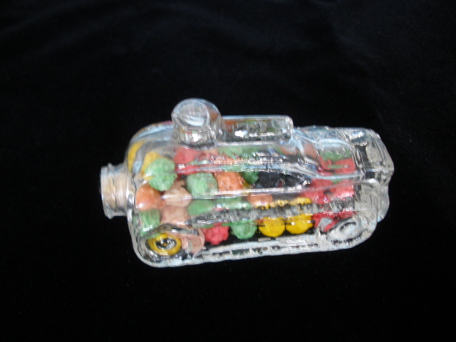 Candy Container Glass Toy Tank with candy