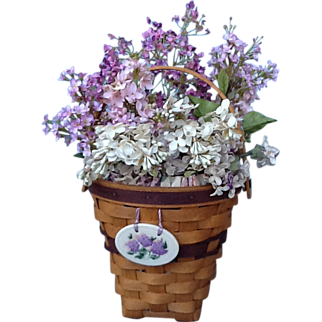 """Longaberger """"May Series"""" Lilac Basket Combo Tie-on immaculate"""