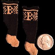 "Very Tiny Burson ""B"" doll socks"