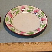 Delicate Toy China Plates Hand-painted Pink Green c.1840