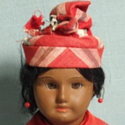 S.F.B.J. Antique French Doll Warm Coffee Skin Tone All Original
