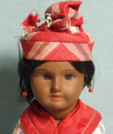 S.F.B.J. Antique French Doll Warm Coffee Skin Tone All Original