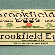 """Vintage """"Brookfield Eggs"""" Advertising Folder Egg Carton Shape unique mint"""