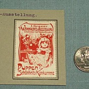 Antique Doll and Toy Festival Stamp Christmas,1907 Austria