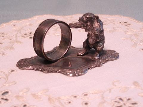 Vintage Figural Bear Child's Napkin Ring Unusual Design