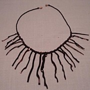 Vintage Branch Black Coral Necklace Jamaica Very Dramatic