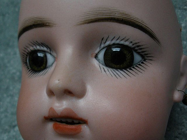 French Antique Doll Sumptuous Gaultier Bebe Hazel Green Eyes