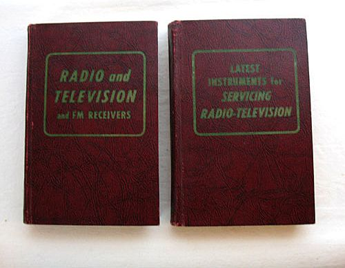 Two Vintage Collectible Books Television TV Repair & Information Hard Back by Coyne 1957 Edition