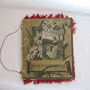 Rare Vintage19th Century Poem Book Rock Me to Sleep Mother 1882
